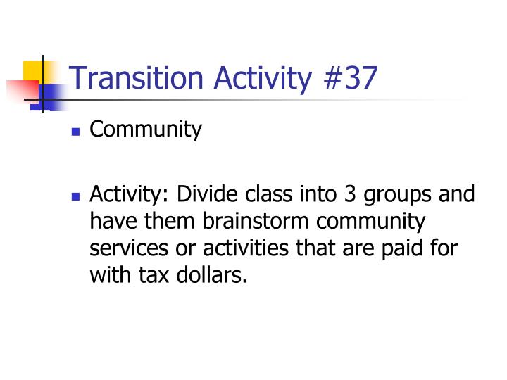 Transition Activity #37