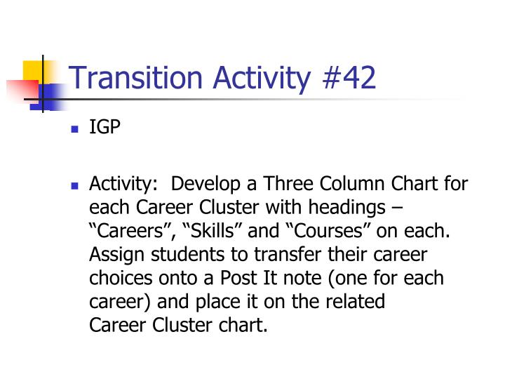 Transition Activity #42