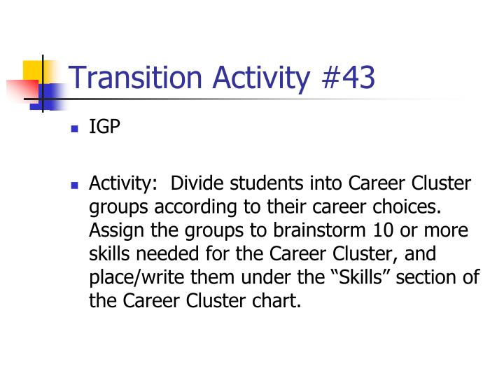 Transition Activity #43