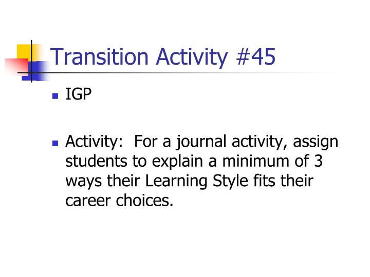 Transition Activity #45