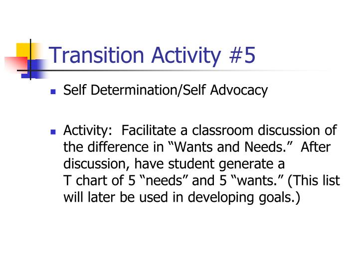 Transition Activity #5
