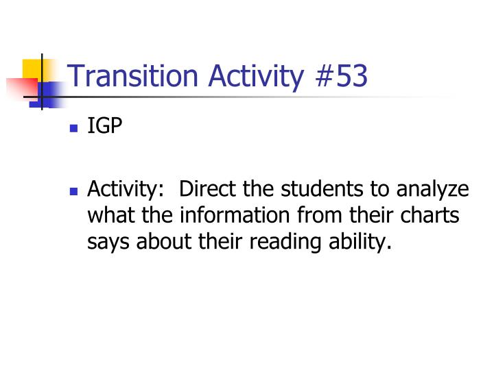 Transition Activity #53