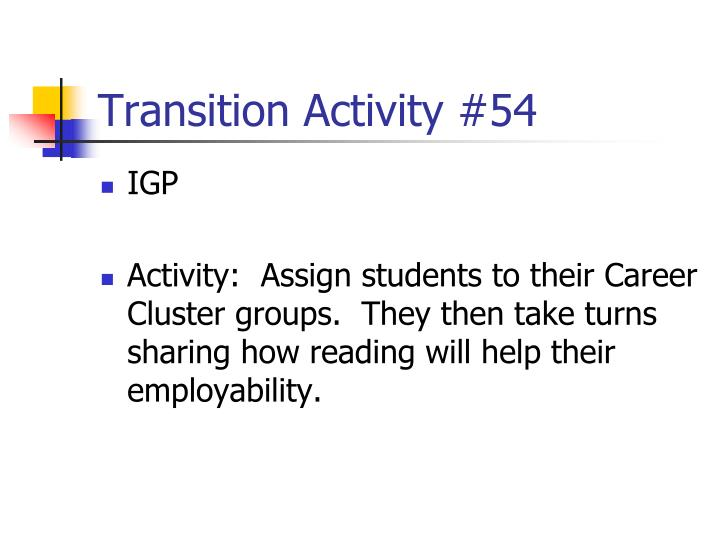 Transition Activity #54