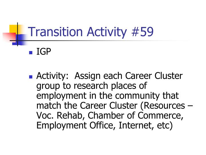 Transition Activity #59