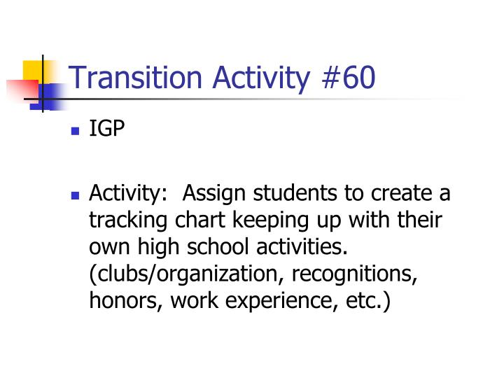 Transition Activity #60