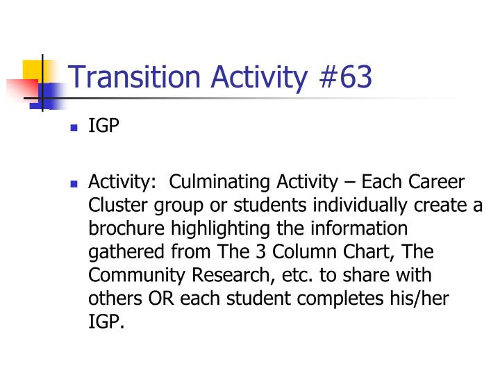 Transition Activity #63