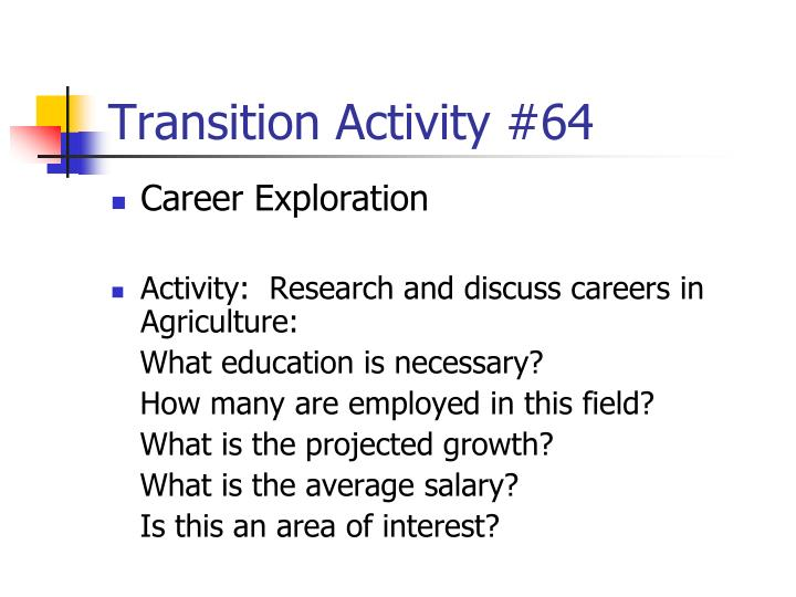 Transition Activity #64