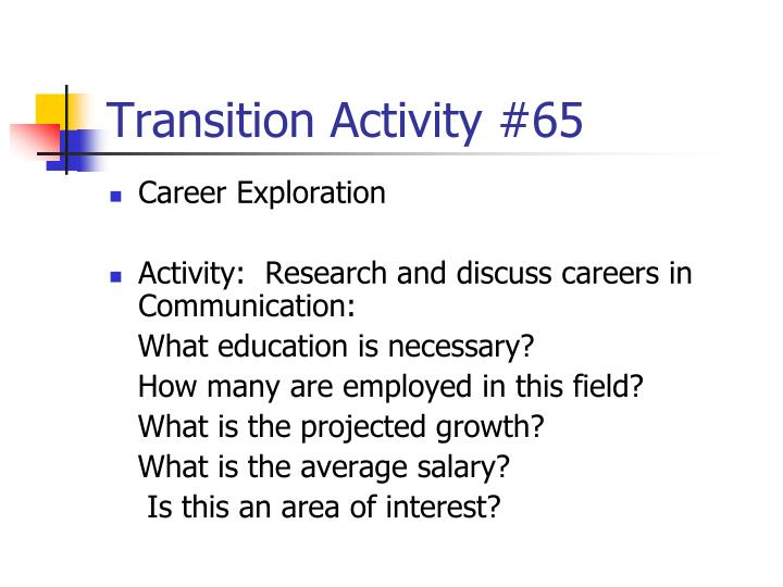 Transition Activity #65
