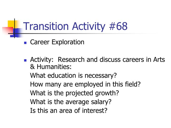 Transition Activity #68