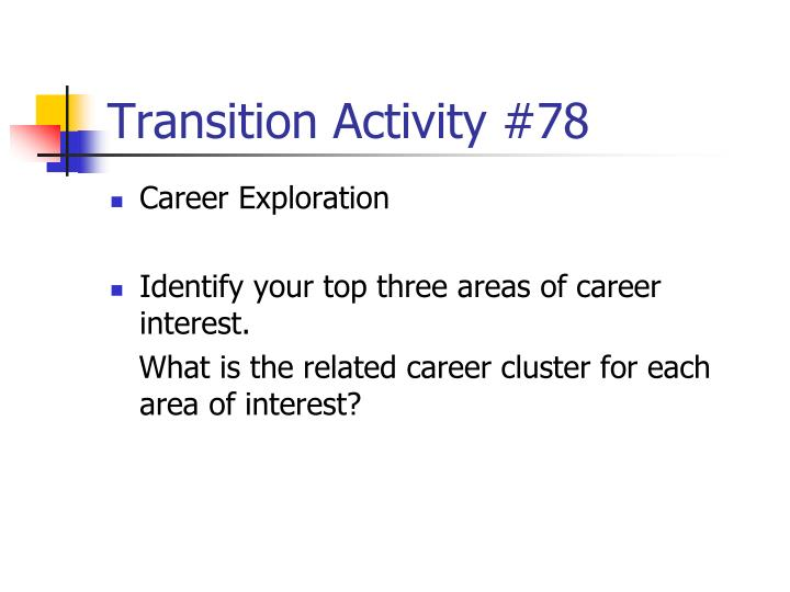 Transition Activity #78