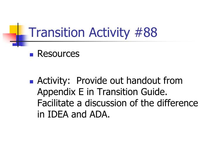 Transition Activity #88