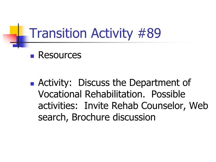 Transition Activity #89