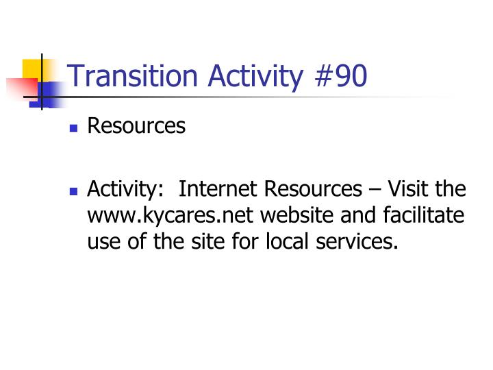 Transition Activity #90