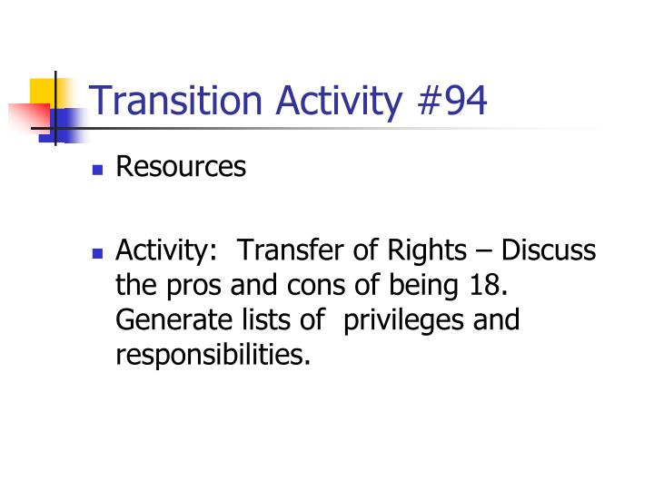 Transition Activity #94