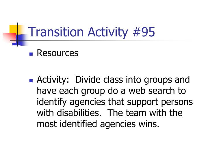 Transition Activity #95