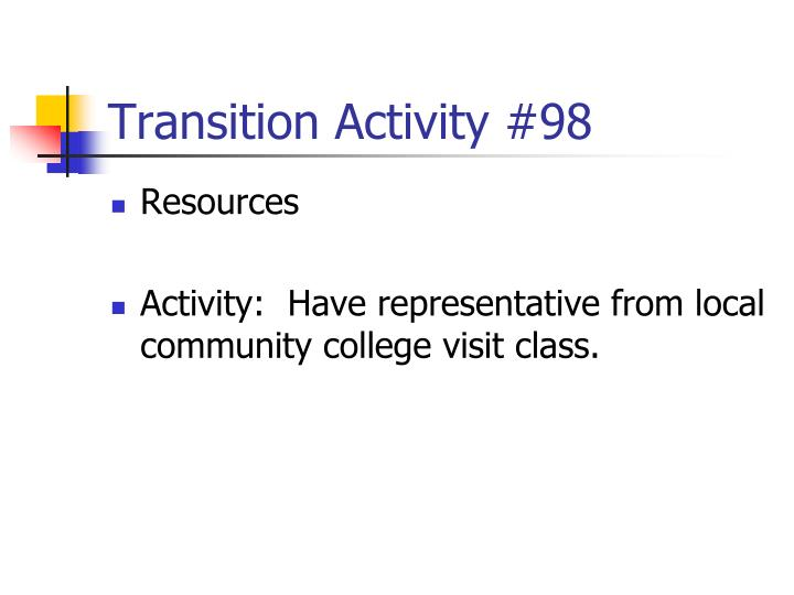 Transition Activity #98