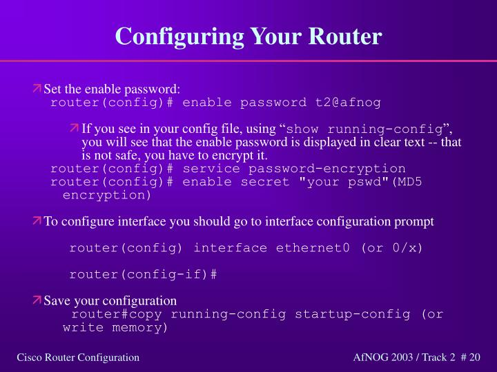 Configuring Your Router