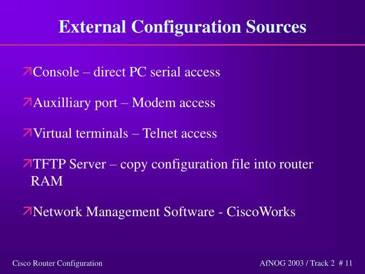 External Configuration Sources