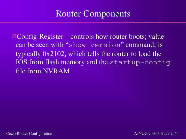 Router Components