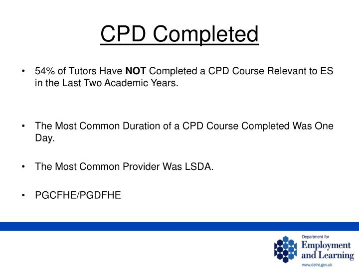 CPD Completed