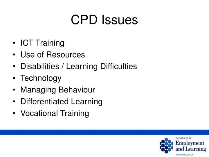 CPD Issues