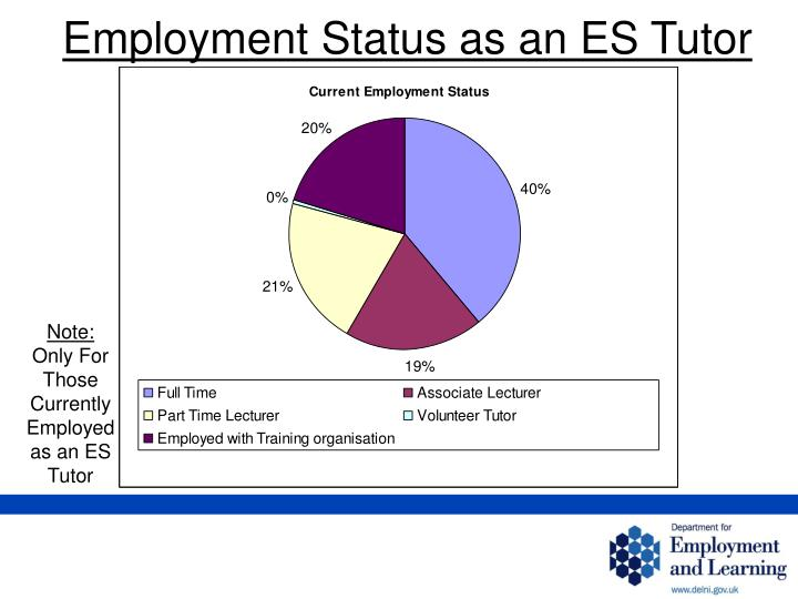 Employment Status as an ES Tutor