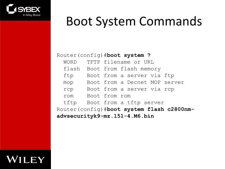 Boot System Commands