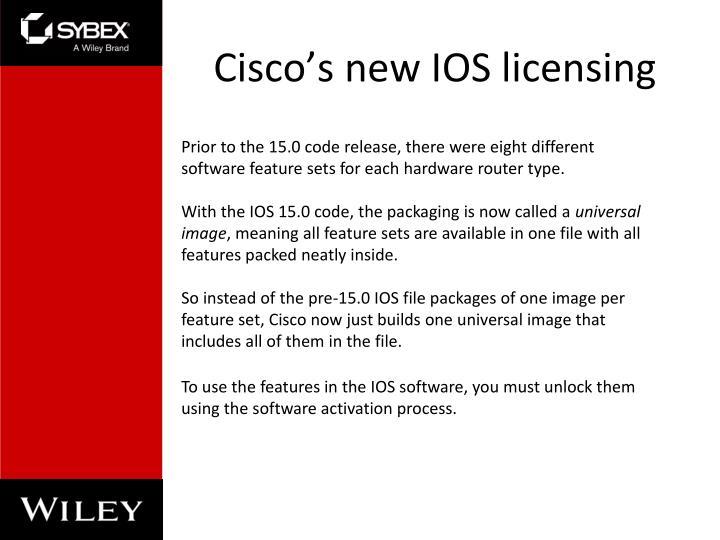 Cisco's new IOS licensing