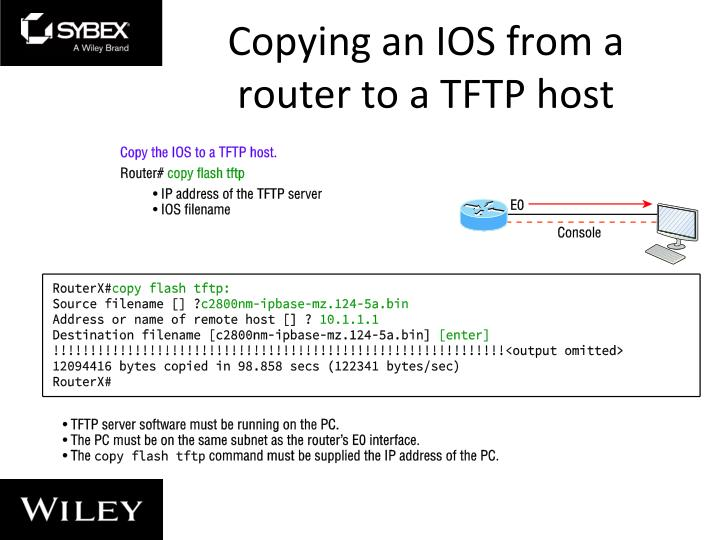 Copying an IOS from a router to a TFTP host