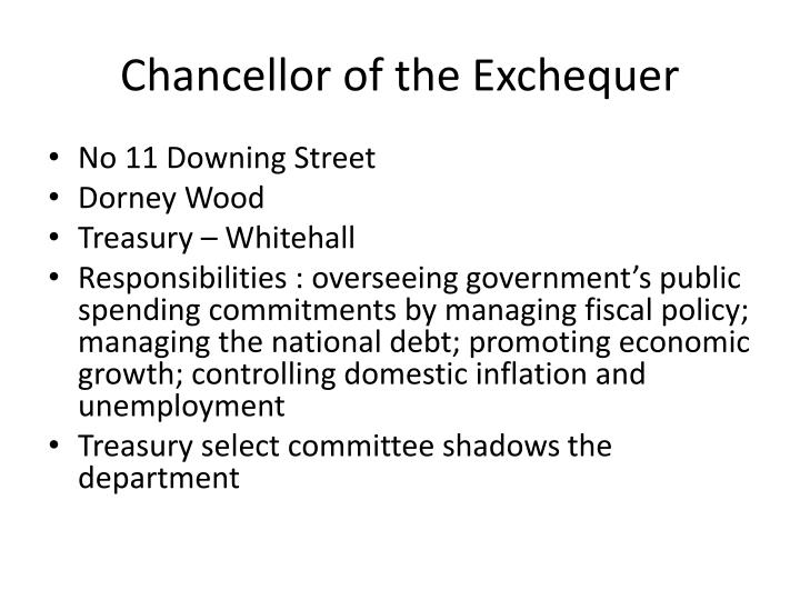 Chancellor of the Exchequer