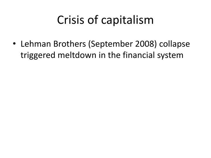 Crisis of capitalism