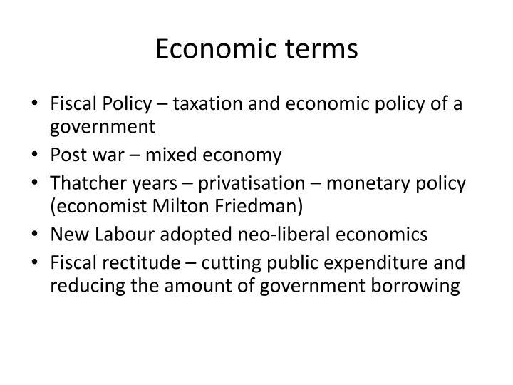 Economic terms