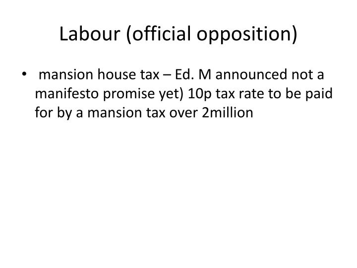 Labour (official opposition)
