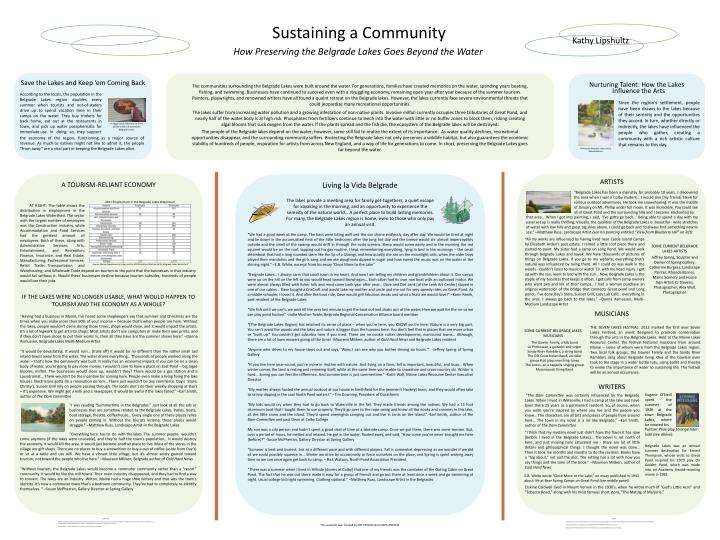 Sustaining a Community