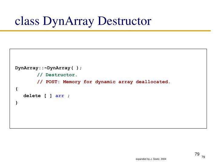 class DynArray Destructor
