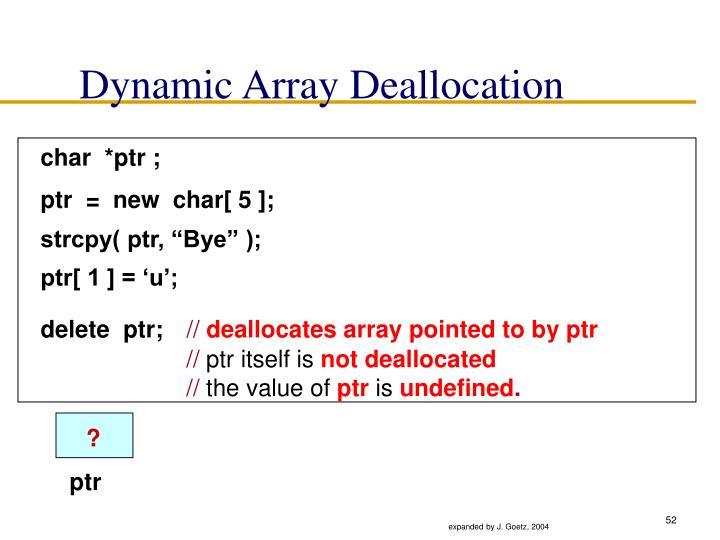 Dynamic Array Deallocation