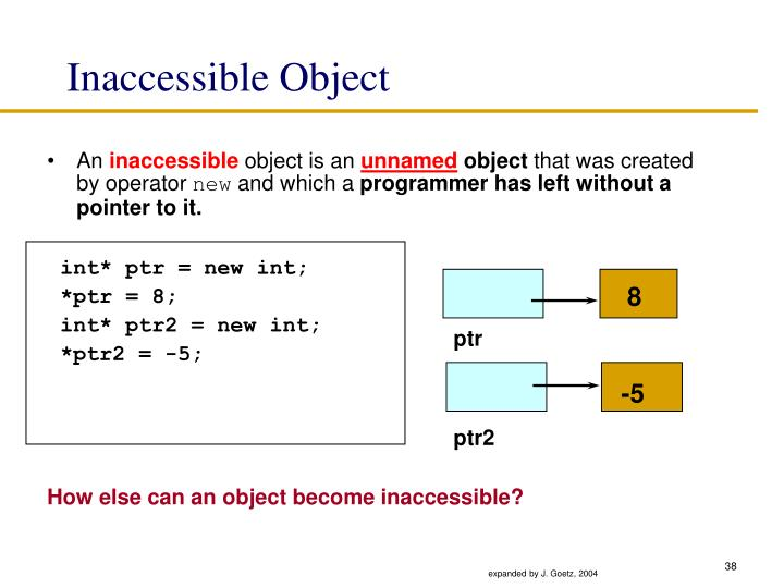 Inaccessible Object