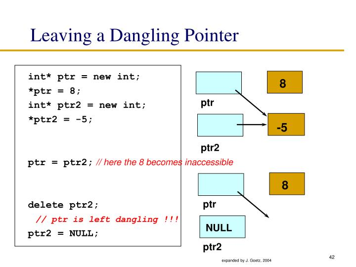 Leaving a Dangling Pointer