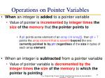 operations on pointer variables1