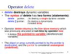 operator delete