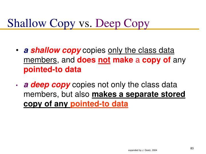 Shallow Copy