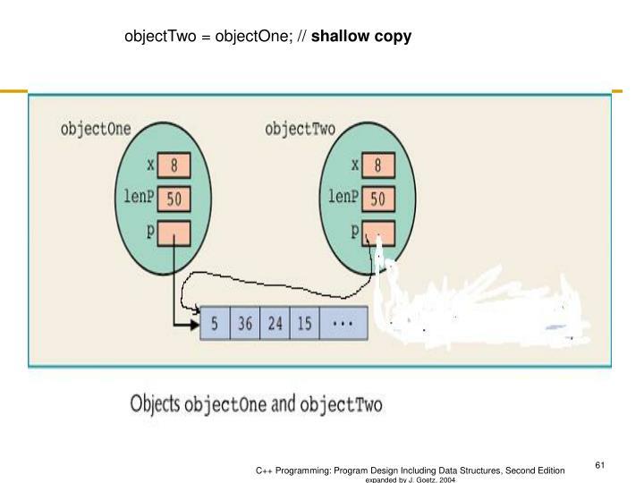 objectTwo = objectOne; //