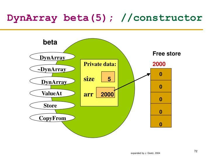 DynArray beta(5);