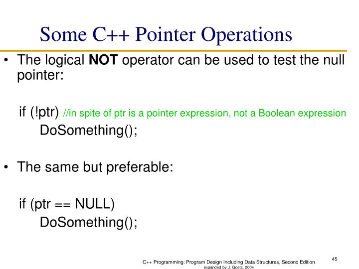 Some C++ Pointer Operations