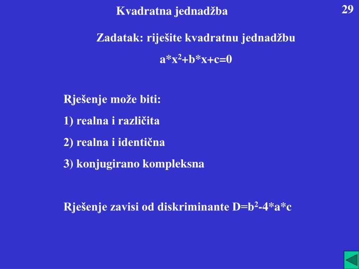 Kvadratna jednad