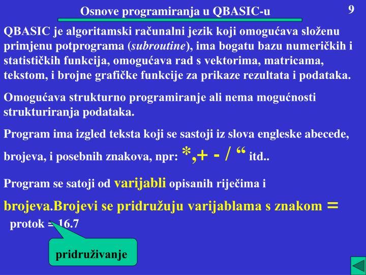 Osnove programiranja u QBASIC-u