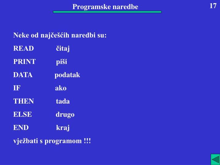 Programske naredbe