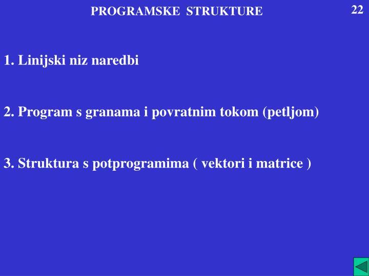 PROGRAMSKE  STRUKTURE