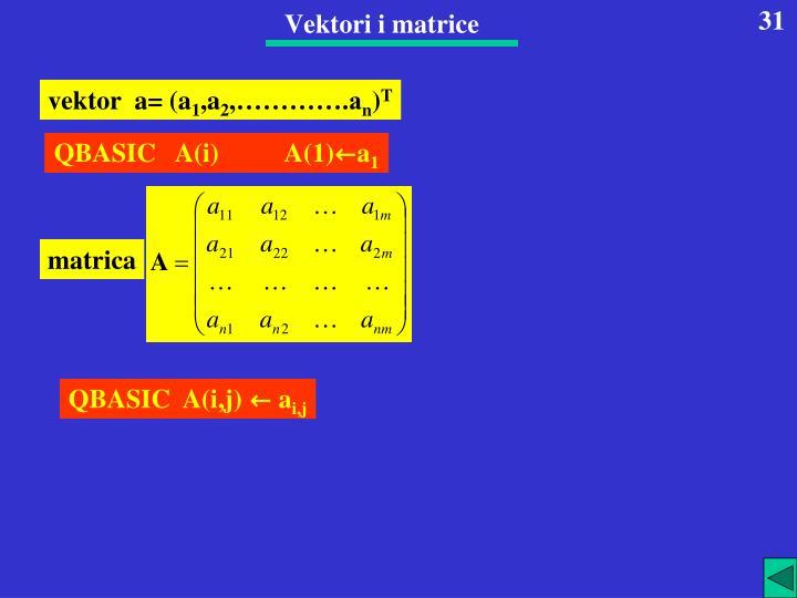 Vektori i matrice