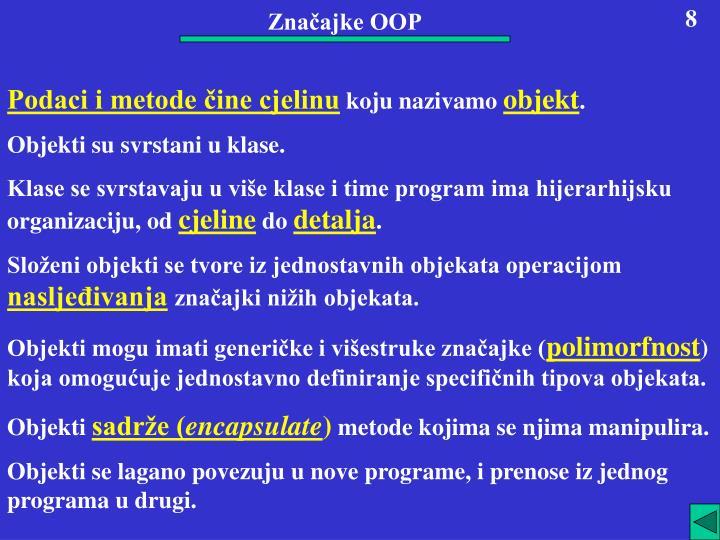 Značajke OOP